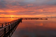 Zonsopgang in Merritt Island, Florida Stock Afbeelding