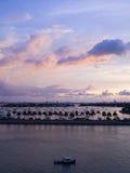 Zonsopgang in Miami, Florida Royalty-vrije Stock Foto's