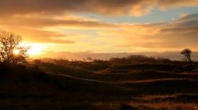 Zonsopgang Nederlands landschap Royalty-vrije Stock Fotografie