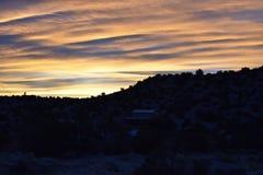 Zonsopgang in New Mexico royalty-vrije stock foto's