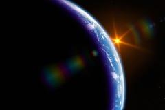Zonsopgang op aarde Royalty-vrije Illustratie