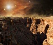Zonsopgang op de rode planeet Stock Foto's
