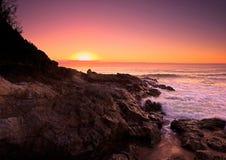Zonsopgang op de Vreedzame Oceaan Royalty-vrije Stock Foto's