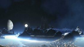 Zonsopgang op de Vreemde Planeet stock footage