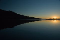 Zonsopgang op het meer van Leigh Royalty-vrije Stock Foto's