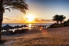 Zonsopgang op het Rode overzees, Marsa Alam, Egypte stock fotografie