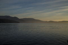 Zonsopgang op het Salish-Overzees dichtbij San Juan Island Royalty-vrije Stock Afbeelding