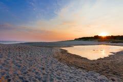 Zonsopgang op het strand Royalty-vrije Stock Afbeelding