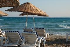 Zonsopgang op het strand Royalty-vrije Stock Foto