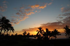 Zonsopgang op Kauai Hawaï Royalty-vrije Stock Afbeeldingen