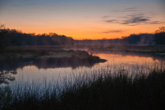 Zonsopgang op Mason Creek, Homosassa, Florida Royalty-vrije Stock Foto's