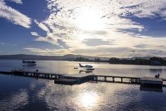 Zonsopgang op Meer Rotorua, Nieuw Zeeland Royalty-vrije Stock Afbeelding