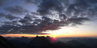 Zonsopgang op Mt Civetta Stock Fotografie