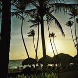 zonsopgang op paradijs stock foto
