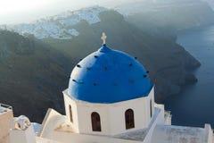 Zonsopgang op Santorini stock afbeeldingen