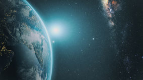 Zonsopgang over Aarde royalty-vrije stock foto