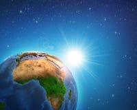 Zonsopgang over Afrikaanse Aarde royalty-vrije illustratie