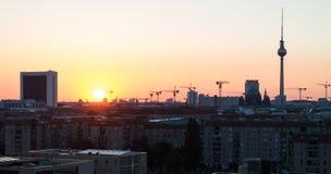Zonsopgang over Berlijn. Royalty-vrije Stock Foto's