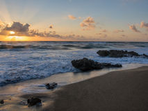Zonsopgang over Coral Cove Park, Jupiter, Florida Stock Afbeelding