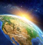 Zonsopgang over de Aarde royalty-vrije illustratie