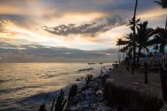 Zonsopgang over de Atlantische Oceaan Dominicaanse republiek, de toevlucht van Punta Cana Royalty-vrije Stock Fotografie