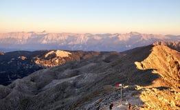 Zonsopgang over de bergen Royalty-vrije Stock Afbeeldingen