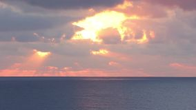 Zonsopgang over de Middellandse Zee stock footage