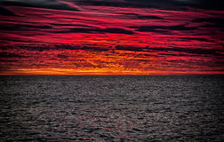 Zonsopgang over de Stille Oceaan Stock Afbeeldingen