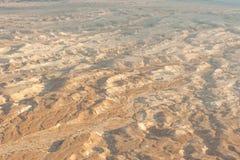 Zonsopgang over een woestijn Stock Foto's