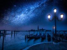 Zonsopgang over Grand Canal in Venetië Royalty-vrije Stock Foto's