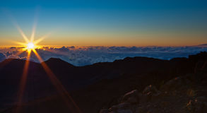 Zonsopgang over Haleakala Stock Foto