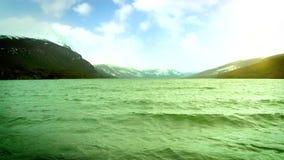 Zonsopgang over het Groene Overzees stock video