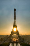 Zonsopgang over Parijs stock foto