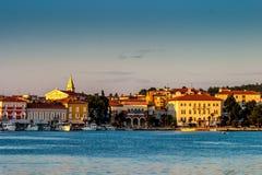 Zonsopgang over Pula Kroatië royalty-vrije stock afbeelding