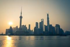 Zonsopgang over Shanghai Stock Fotografie