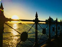 Zonsopgang over Sydney Harbor royalty-vrije stock foto's