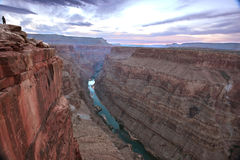 Zonsopgang over Toroweap-canion, het Noordenrand, Grand Canyon, Arizona stock foto