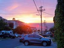Zonsopgang over Vreedzame Oceaan, Sydney, Australië stock afbeeldingen