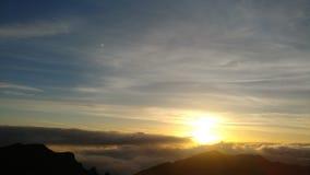 Zonsopgang over vulkaan Haleakala royalty-vrije stock fotografie