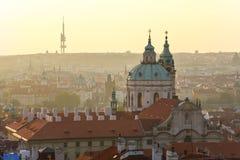 Zonsopgang in Praag Stock Foto