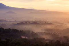 Zonsopgang Punthuk Setumbu stock fotografie