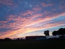 Zonsopgang in Randaberg stock foto