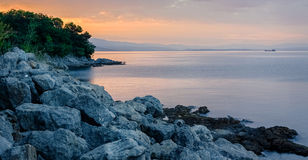 Zonsopgang in Rijeka Royalty-vrije Stock Afbeeldingen