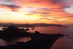 Zonsopgang in Rio de Janeiro, Brazilië Stock Afbeelding