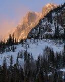 Zonsopgang in Rocky Mountain National Park stock afbeeldingen