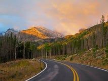 Zonsopgang in Rocky Mountain National Park royalty-vrije stock foto