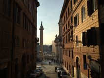Zonsopgang Rome Italië Stock Fotografie