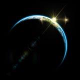 Zonsopgang in ruimte Stock Foto's