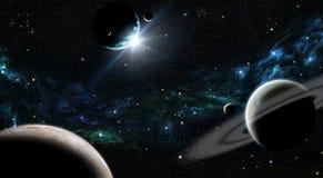 Zonsopgang in ruimte Stock Fotografie