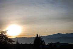 Zonsopgang in Sierra Nevada Royalty-vrije Stock Foto's